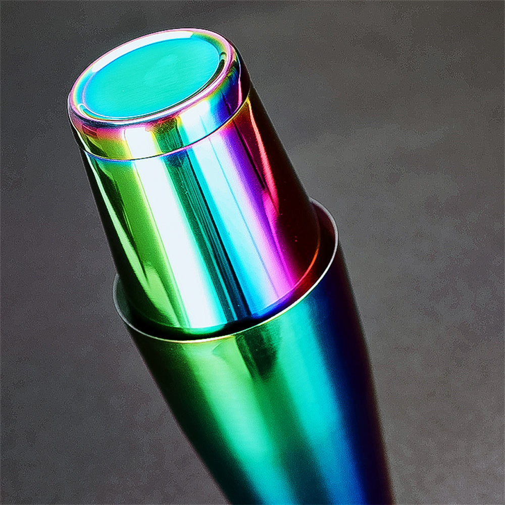 Rainbow colors cocktail shaker