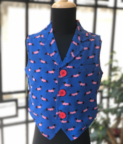 Dashing Puppies - Waistcoat for Boys