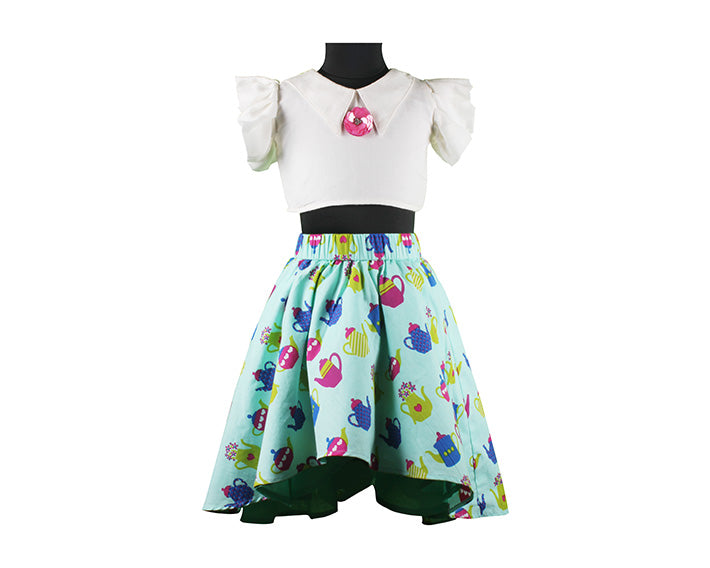 Topsy Turvy Teapots - Skirt Top