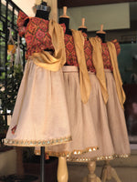 Gold Foil Frills- Skirt-Top / Ghagra-Choli