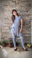 Comfy Blue Jumpsuit - Mommy