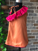 Peachy Pinky -  Off Shoulder Ruffled Short Dress