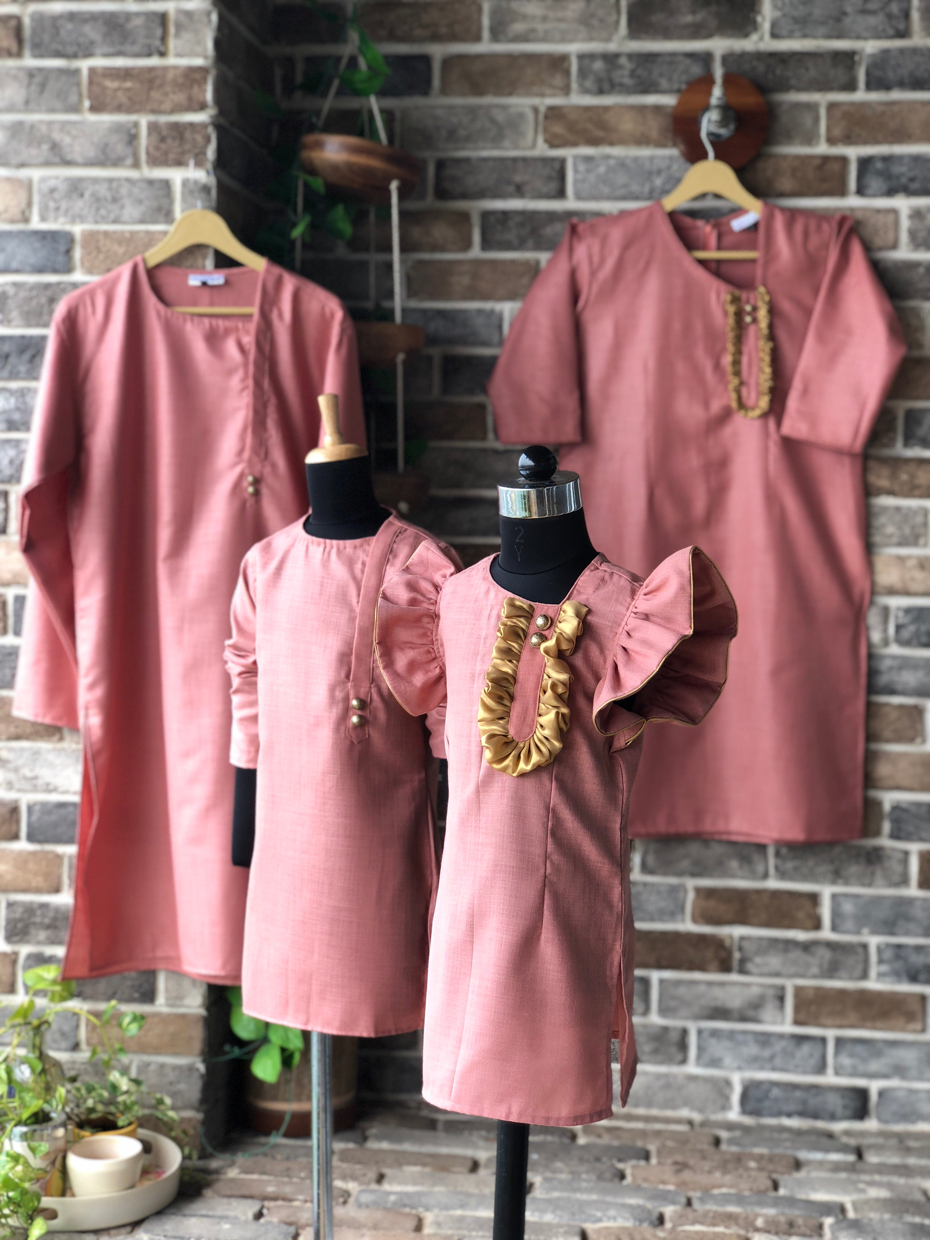 Dusty Pink Kurta - Girl Child