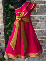 Golden Fuchsia - Long Dress
