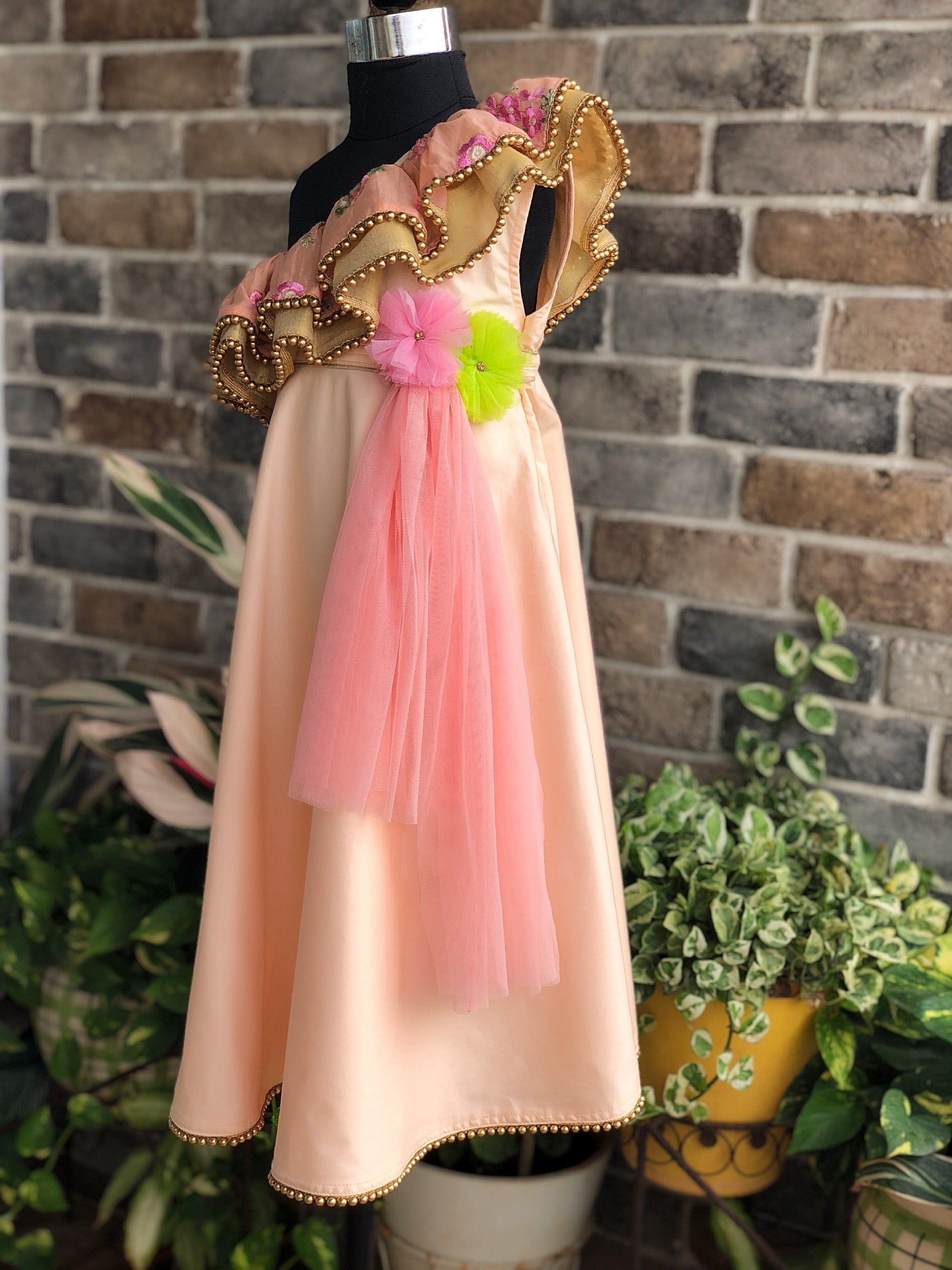 Festive Peach - Long Dress