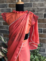 Dream Girl - Quirky Coralista Stitched Saree