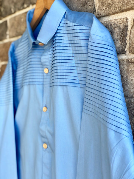 True Blue - Pin Pleates Shirt ( Daddy )