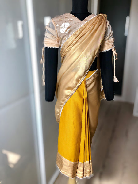 Golden Goose - Pre-Stitched Saree