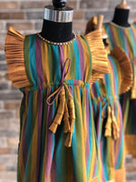 Stripey Gold - Festive Short Dress