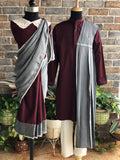 Maroon Cream Kurta-Pyjama - Child