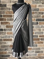 Dream Girl - Slate Grey Stitched Saree