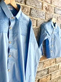 True Blue -  Pin Pleates Shirt ( Child )