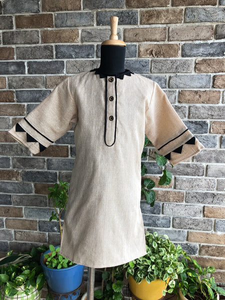 Rustic Raw Kurta - Girl Child