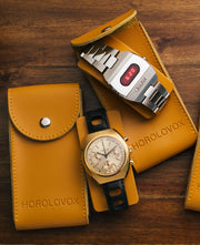 Leather Watch Travel Pouch
