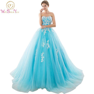 Sweetheart Blue Quinceanera Dresses Ball Gowns With Appliques Lace Up Sweet 16 Dresses Vestidos De 16 Years Party Gowns