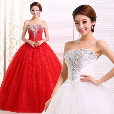 ruthshen Red Ivory Tulle Ball Gown 2019 Beading Crystal Quinceanera Dresses Bow Robe De Bal 15 Sweet Sixteen Debutante Gowns