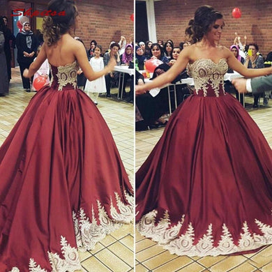Burgundy Lace Quinceanera Dresses Ball Gown Sweetheart Tulle Prom Debutante Sixteen 15 Sweet 16 Dress vestidos de 15 anos