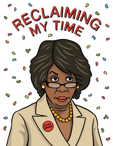 Maxine Waters Birthday Greeting Card