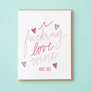 You and Wine Greeting Card