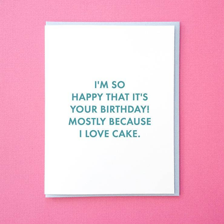 I Love Cake Greeting Card