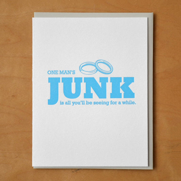 One Man's Junk Greeting Card