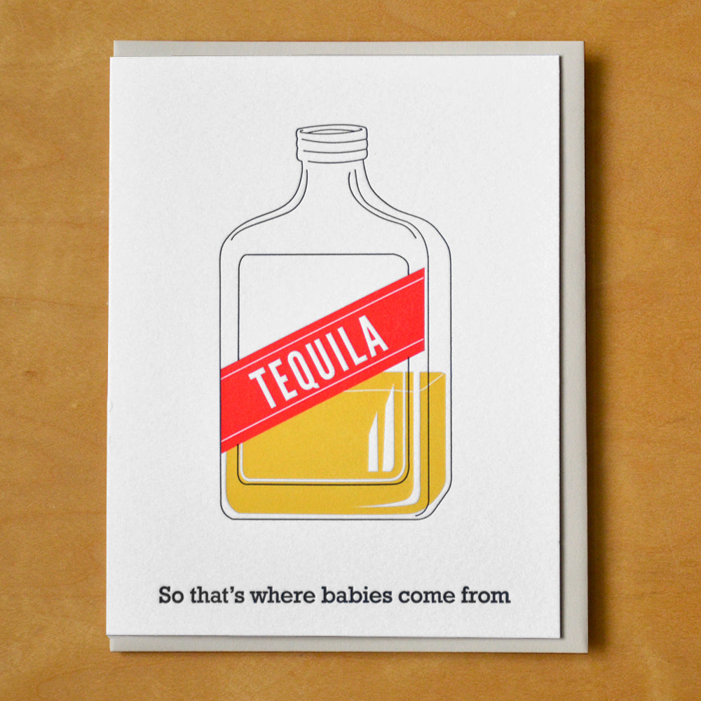 Tequila Baby Greeting Card
