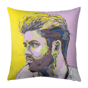 George Michael Linen Pillow