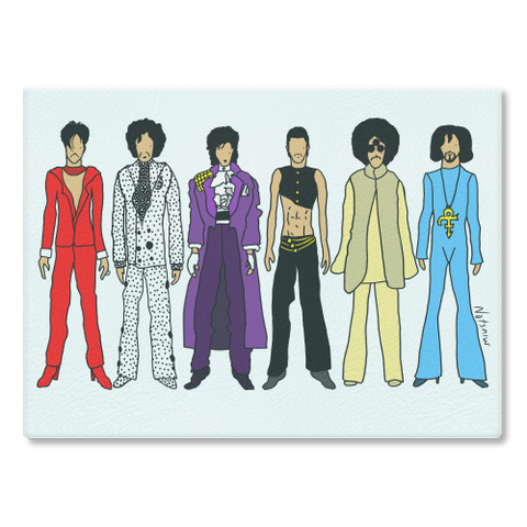 Prince Outfits Cutting Board