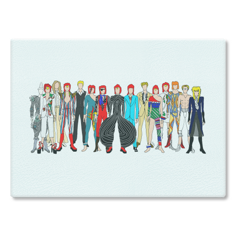 Bowie Outfits Cutting Board