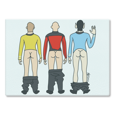 Star Trek Butts Cutting Board