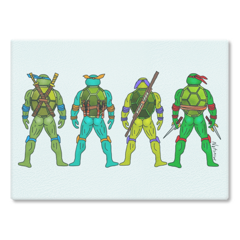 Ninja Turtle Butts Cutting Board