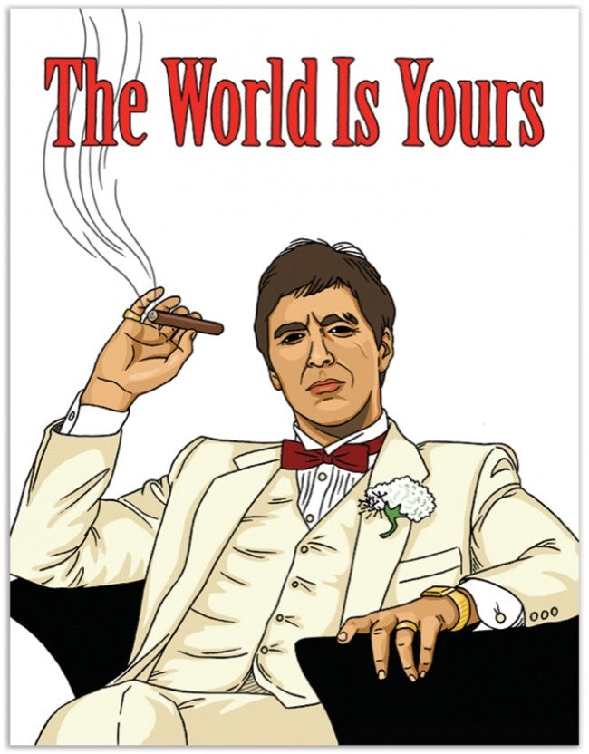 Tony Montana Birthday Greeting Card