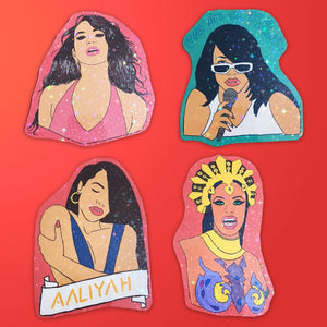 Aaliyah Stickers (Set Of 4)