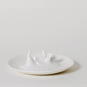 Emerging Wild Rhinoceros Ring Holder Dish