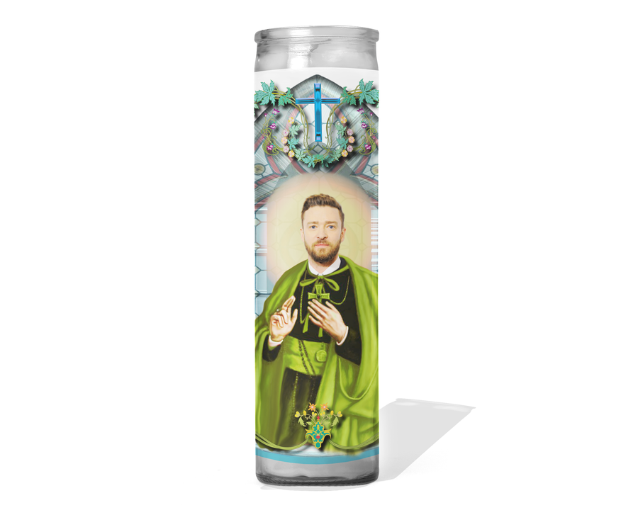 Justin Timberlake Prayer Candle