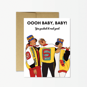 Push It Baby Greeting Card
