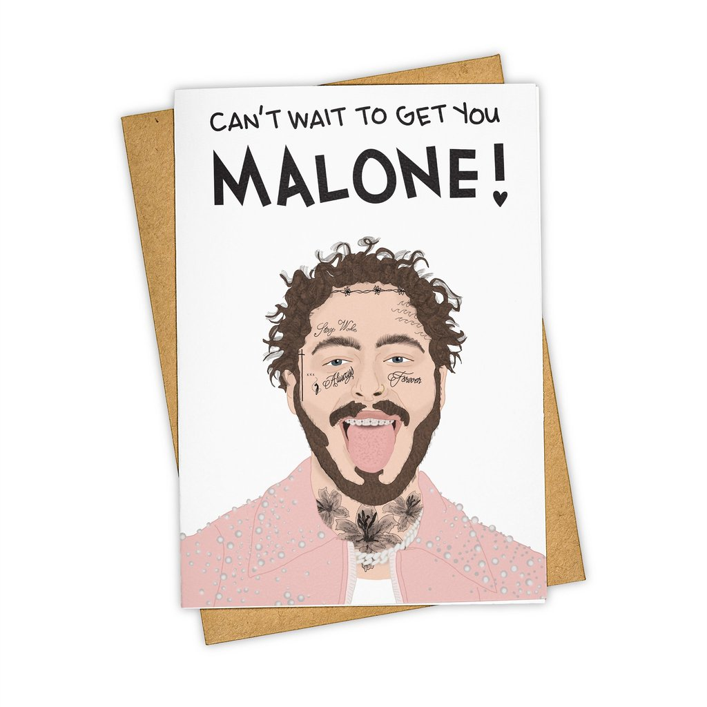 Post Malone Valentine Greeting Card