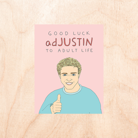 Good Luck Adjustin Greeting Card