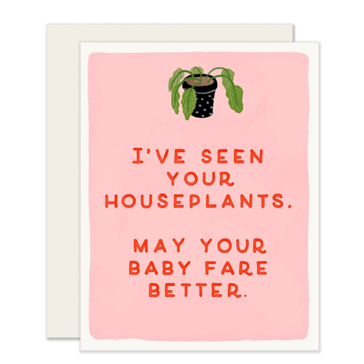 Babies and Houseplants Greeting Card