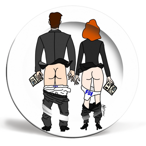 X-Files Butts Plate