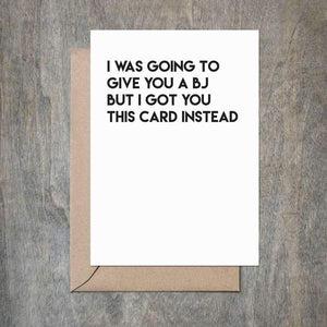 BJ Greeting Card
