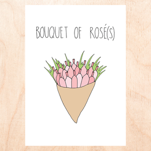 Bouquet Of Rosé(s) Greeting Card
