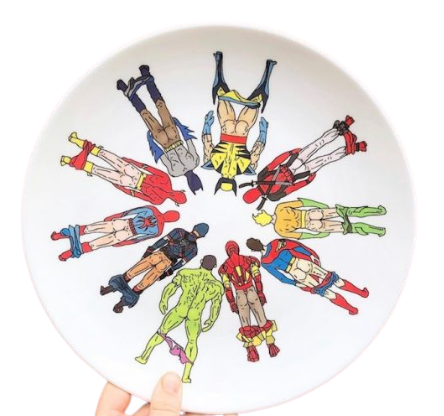 Superhero Butts Plate