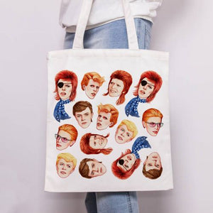 Glam Rock Faces Tote Bag
