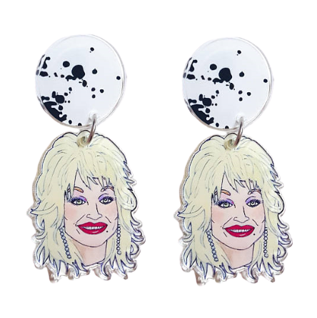 Dolly Parton Statement Earrings