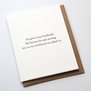 Forgive Your Husband Greeting Card