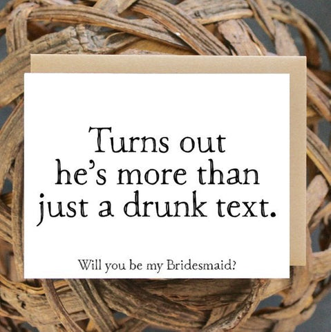 More Than A Drunk Text Greeting Card