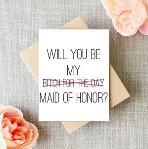 Bitch For The Day Greeting Card