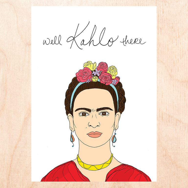 Kahlo There Greeting Card