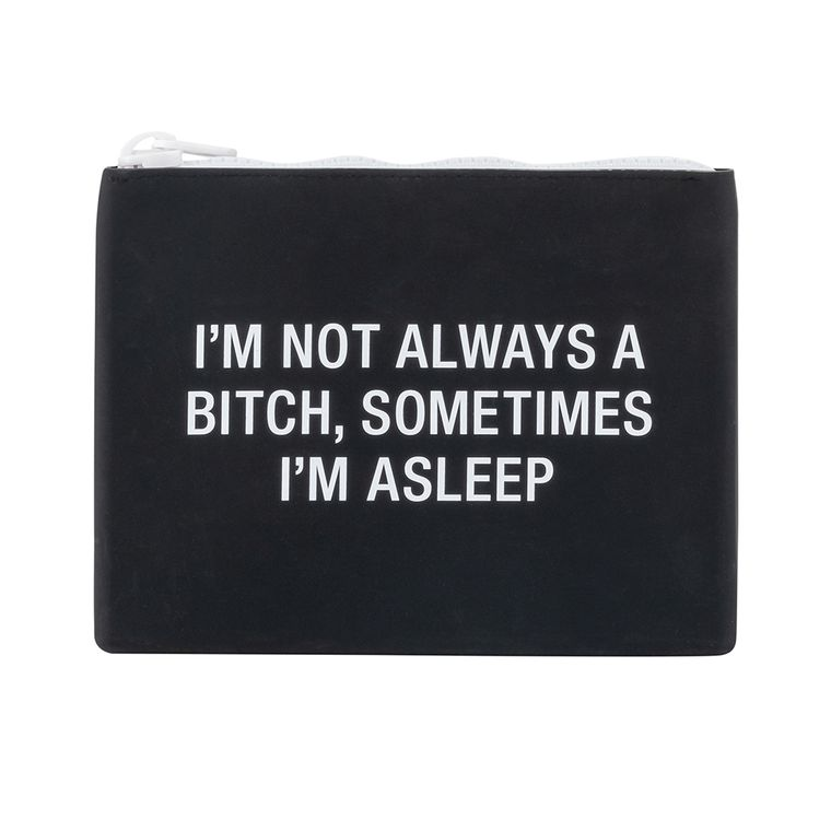 Not Always A Bitch Silicone Makeup Bag